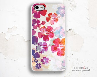 Colorful Floral iPhone 6 Case - iPhone 6 Plus Case, Rubber iPhone Cases, iPhone SE Case White, Summer Flower iPhone 6s Cases .1205