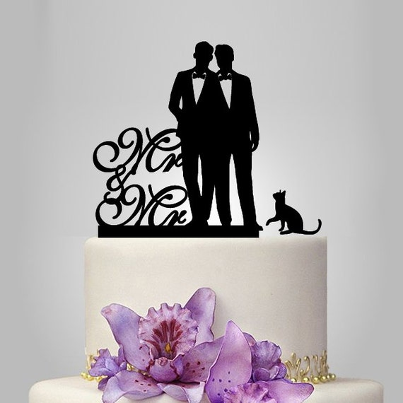Mr And Mr Gay Cake Topper For Wedding Same Sex Cake By Walldecal76