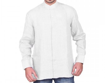 Hand Made Linen Shirt With Zali