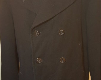 FREE  SHIPPING  1950 Pea Coat