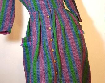 FREE  SHIPPING   Vintage 1950 Wool Dress