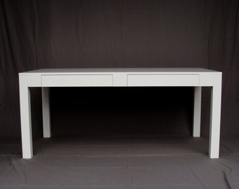 Modern White Parsons Desk ON SALE