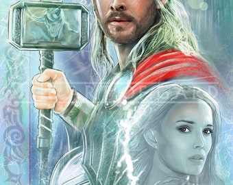Thor Collage 11X17 Art Print