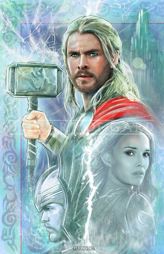 Thor Collage 11X17 Art Print