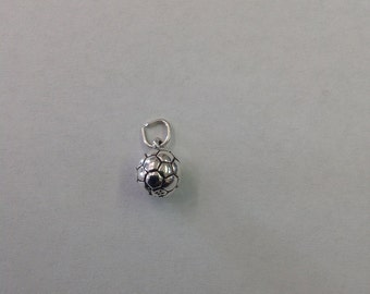 Sterling Silver Soccer Ball Charm,1 Piece,925,Silver Charm