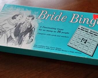 Bride Bingo Vintage Bridal Party Game NOS