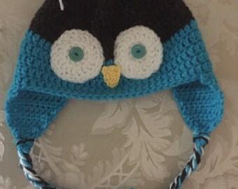 Owl earflap cap
