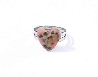 Chocolate Chip Heart Cookie Ring Kawaii Miniature Food Jewelry