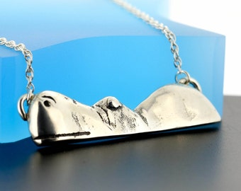 Sterling Silver Hippo Necklace - Hippo Jewellery - Hippo Gifts - Hippopotamus