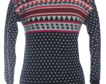 Vintage Viyella Nordic Wool Jumper 10 & Below - www.brickvintage.com