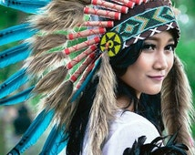 Deluxe Native  American Style Feather Headdresses ~ Tribal Collection ~ Costume