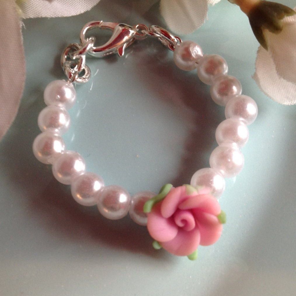 Baby Gifts Jewellers : Pearl baby bracelet gift infant jewelry girl