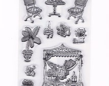 Summer Floral Vacation Set of 10 Clear Rubber Stamps