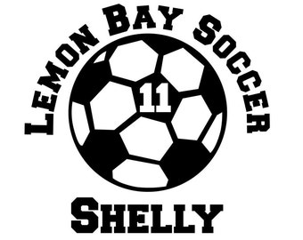 Soccer Decals Etsy - Soccer custom vinyl decals for car windows