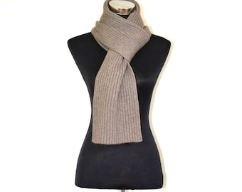 Cashmere scarf ,   Natural color .