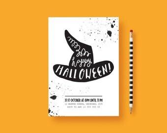 Halloween Invitation - Adult Halloween Invitation - Halloween Birthday Invitation - Halloween -  Halloween Party Invitations