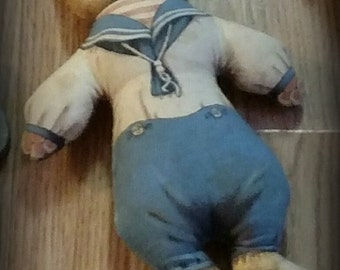 Vintage Sailor Cat Doll
