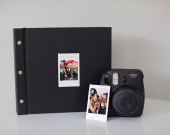 Instant Photo Guest Book - Wedding Album - Sign In Book - Instax Photo Guest Book - Wedding Guestbook - Hand Bound Book - Photo Booth Album
