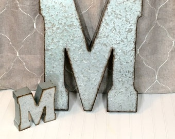 Large Metal Letter/20 inch Metal Letter/Wall Decor/Galvanized Letter/SSLID0040/Shabby Chic Letter/BOHO/Country Chic/Farmhouse/Country