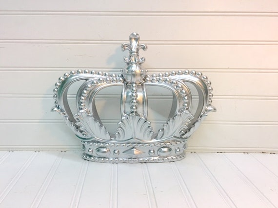 Crown Decoration For Wall : Silver crown wall hanging decor shabby by theshabbystore