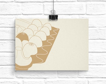 Egg carton card - egg notecard - minimalist notecard - kitchen wall art - letterpress card - notecard - hipster card - minimalist decor