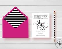 beliebte artikel f r mr and mrs script auf etsy. Black Bedroom Furniture Sets. Home Design Ideas