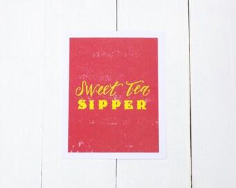 Sweet Tea Sipper, 8x10 Print