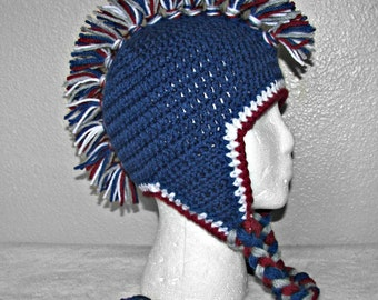 Colorado Avalanche Inspired Mohawk Beanie