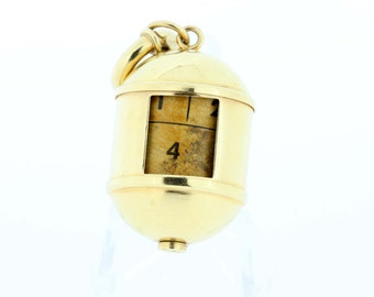 14K Rotating Cylinder Photo Locket