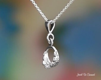 "Sterling Silver Tiara Necklace 16-24"" Chain or Pendant Only Royal .925"