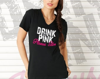 CLEARANCE - Small Plexus Slim Drink Pink Tee 78042JH