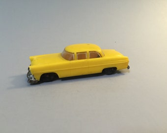 YELLOW TOY CAR,Vintage yellow toy car,Lionel toy car, Lionel yellow car, plastic yellow car, hard plastic car,vintage hard plastic car