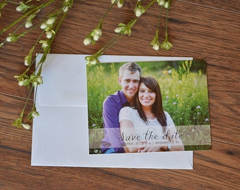 Photo Save the Date, save the date postcard, custom photo postcard, wedding photo invitation
