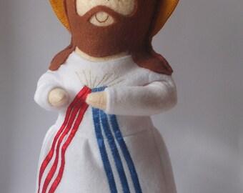Divine Mercy Jesus Felt Saint Doll-Catholic Religious Doll-Christmas Gift