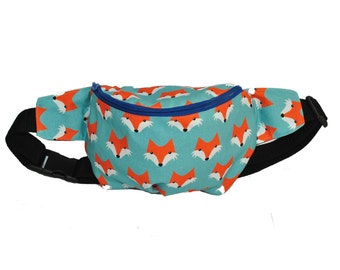 Foxes cotton fanny pack