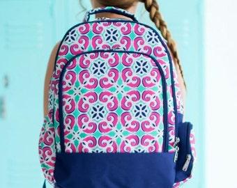 Monogrammed Mia Tile Backpack