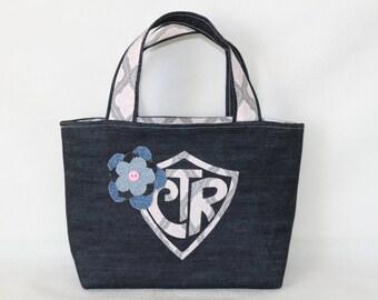 CTR Denim Scripture Tote/Handbag LDS