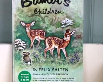 Vintage Childrens Book Bambi's Children 1950 By Felix Salten