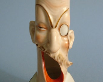 Vintage Figural Open Mouth Novelty Ashtray 1940s Ceramic