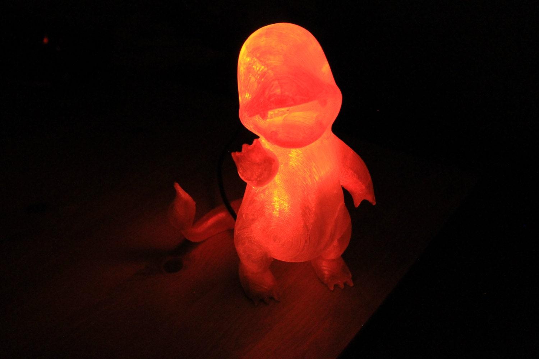 Lampade Charmander lampada 3D stampato Pokemon di MarbledWorks