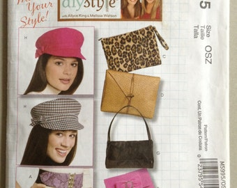 McCall's Pattern M5995, Hat Making and Accessories Sewing Pattern, Hats, Bags and Belts
