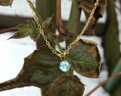 Apatite Round Six-Prong Pendant Necklace in 14K Gold Fill - 16 or 18 inches