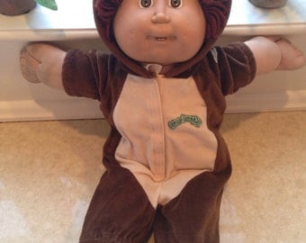 Cabbage Patch Kid in bear costume
