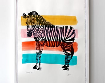 limited edition zebra prints