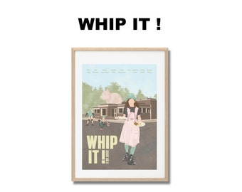 Whip it ! Movie Print - Poster Drew Barrymore A3