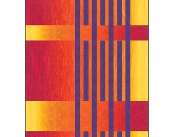 """Behind Bars Quilt Pattern by Urban Elementz; UE2703; 51"""" x 78""""; Use with Ombre Fabrics; Quilt Pattern; Sewing Pattern; Sewing, Decor"""