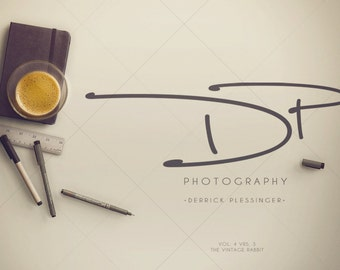 Premade Logo and Photography Logo - Watermark, Watercolor, (Vol4.Vrs3)