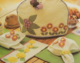 Tea Cozy Uncut Sewing Patern Mccall S 2304 Butterfly Flower Wall Quilt