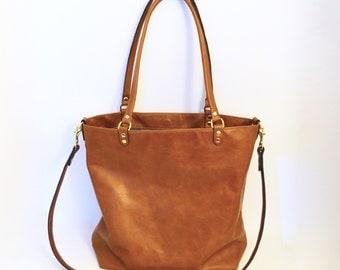 Leather Tote Bag, Crossbody Bag, Shoulder Bag, Brown Leather Purse