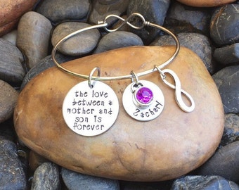 The Love Between A Mother And Son Is Forever Bracelet | Mother's Jewelry | Mothers Bracelet | Mother And Son Jewelry | Jewelry Gift From Son